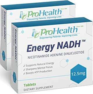 ProHealth Energy NADH 2-Pack (12.5 mg, 30 Tablets Each) Boost Energy, Mental Clarity, Alertness and Concentration | Unique...