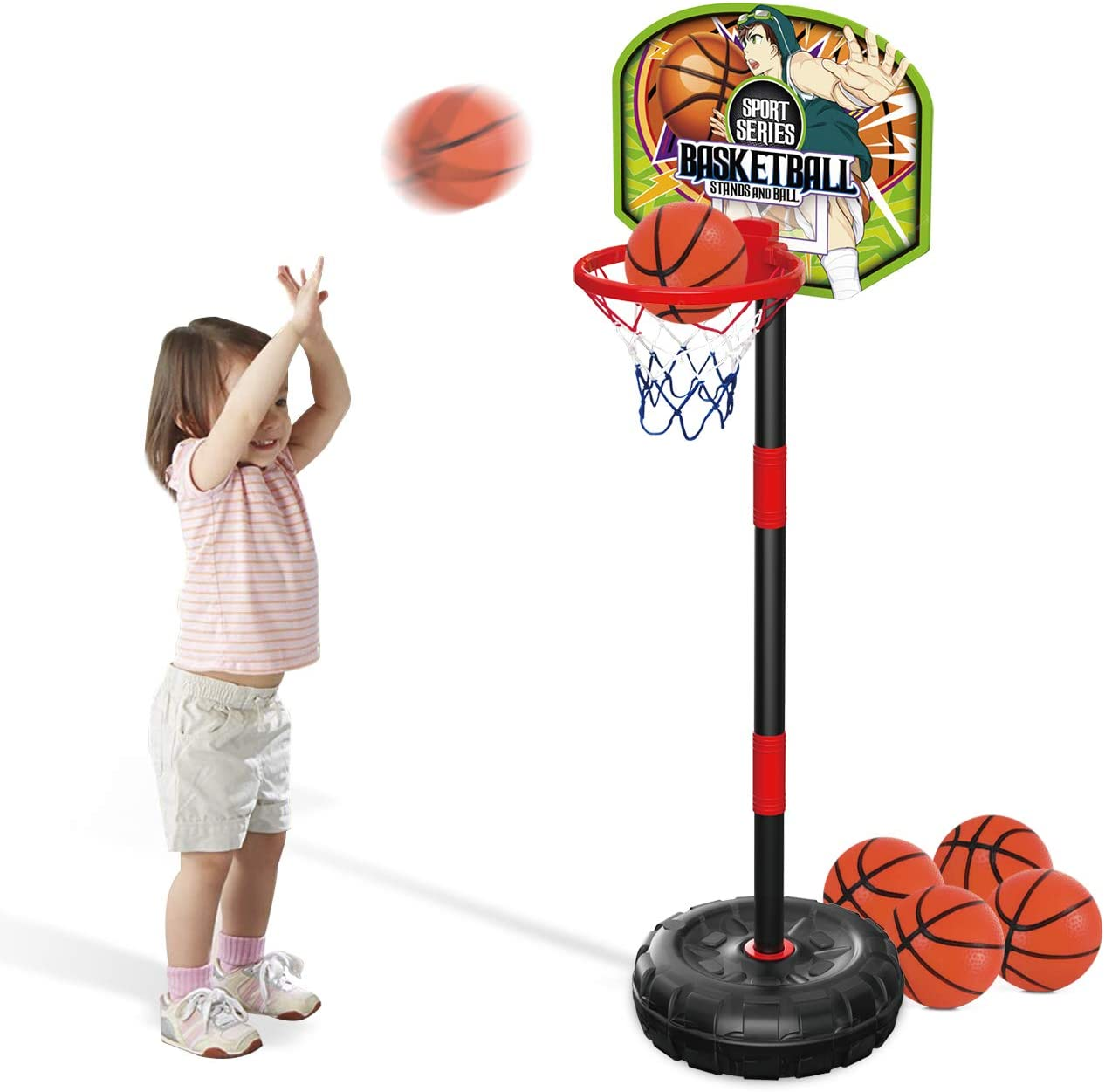 EP EXERCISE N PLAY Toddler Basketball Hoop Stand Mini Indoor Bas