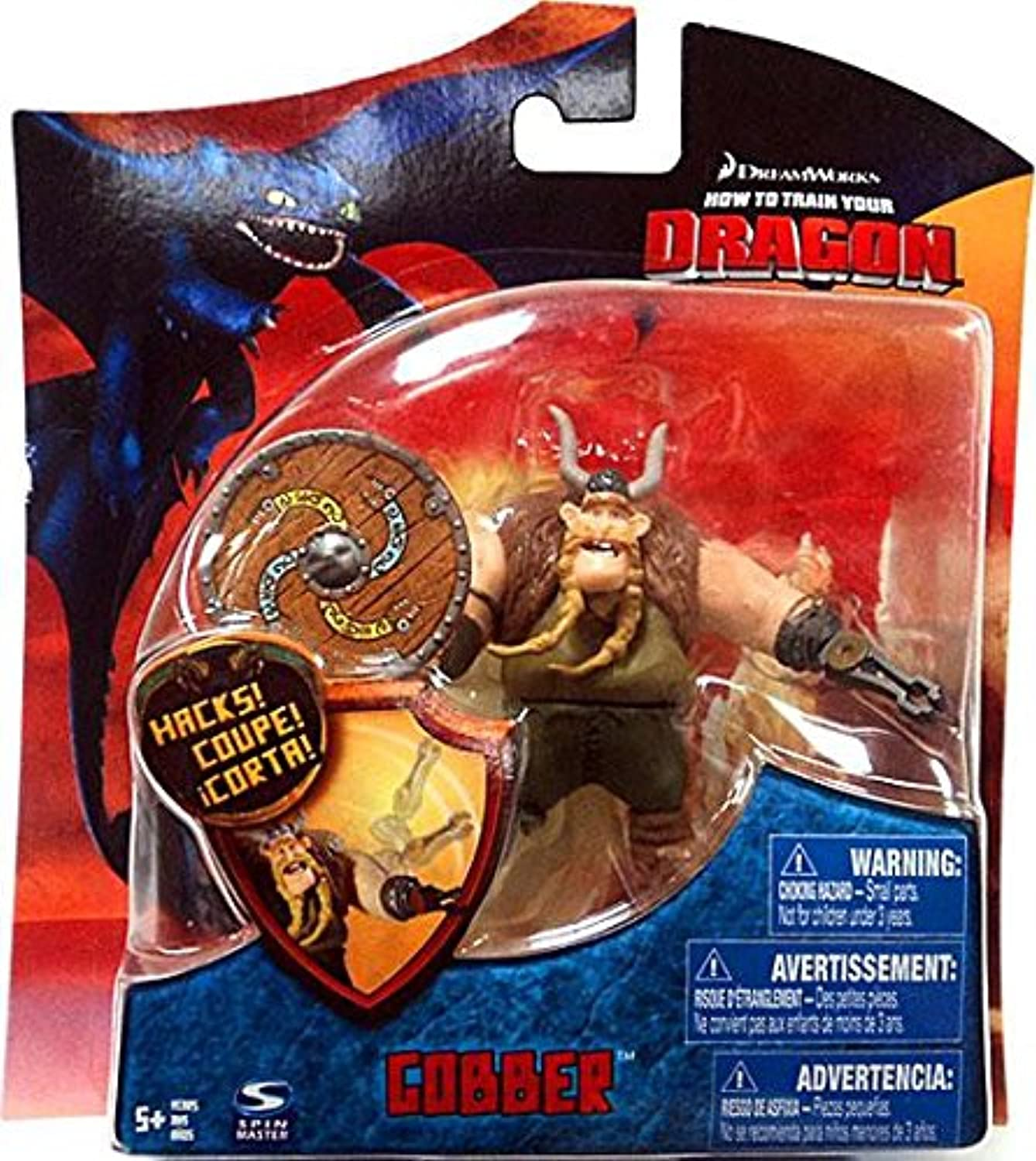 Dreamworks - How to Train Your Dragon - Series 3 - Gobber with Shield - 4    10cm