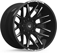 Dropstars 654BM DEEP CONCAVE BLACK Wheel with Gloss CNC Milled Accents (0 x 10. inches /5 x 112 mm, -25 mm Offset)