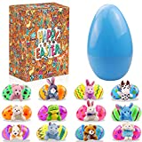 Devis 13 Pack Prefilled Easter Eggs with Mini Animal Plush, Easter Eggs Filled with Mini Toys, Cute Small Animal Keychain Set for Easter Day Gift, Kids Easter Egg Party Favors, Easter Egg Hunts, Basket Stuffers
