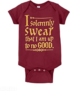 Unisex Baby I Solemnly Swear That I Am Up to No Good One Piece Bodysuit