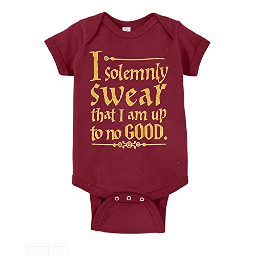 7d7583f4983 Unisex Baby I Solemnly Swear That I Am Up to No Good One Piece Bodysuit