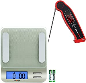 ThermoPro Accuweight 207 Digital Kitchen Food Scale TP19 Waterproof Digital Meat Thermometer