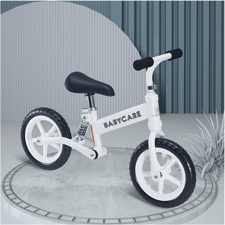 YSH Laufrad Kinder Laufrad Balance Bike   Eva-Rad   110 Lbs Kapazitt   Sitz Und Lenker Verstellbar   Alter 2 Bis 6 Jahre   80-120 cm,Weiß