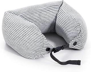 U-Shaped Pillow Neck Pillow Portable Student Siesta Pillow Aircraft Pillow Travel Pillow Protect The Cervical Spine Fabric Pillow QYLOZ (Color : E)