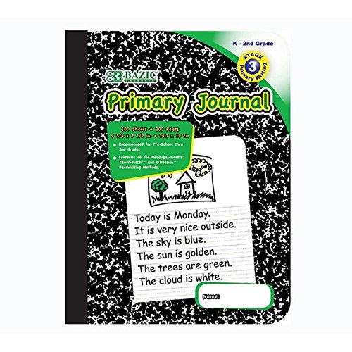 4Pk, BAZIC Primary Journal Marble Composition 100 sheets Book