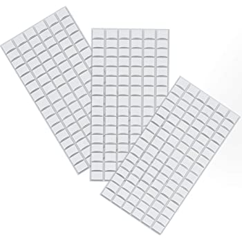 Haraqi 両面テープ はってはがせる 何度も使えるソフト粘着剤フォトフレーム、ポスター、装飾用です (288個入り)