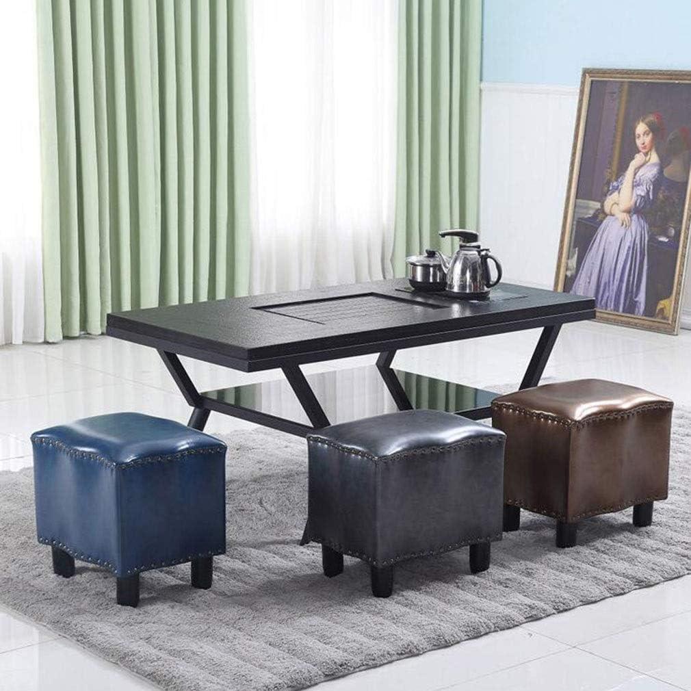 YUMUO Pouf en Cuir rembourré Tabouret Tabouret Petit Banc Tabouret Canapé Salon Table Basse (Couleur: Jaune, Taille: 40 * 40 * 32cm) 11