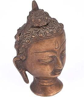 Indianshelf Handmade Brass Buddha Head Statues Decoration Designer Vintage Statement Pieces Online New