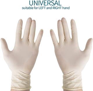 Avanti Medisch wegwerppoeder, latexhandschoenen, medisch onderzoek, maat L, 100 stuks, niet steriel, voor cosmetische en medische ingrepen, keuken en levensmiddelen, Disposable handschoenen