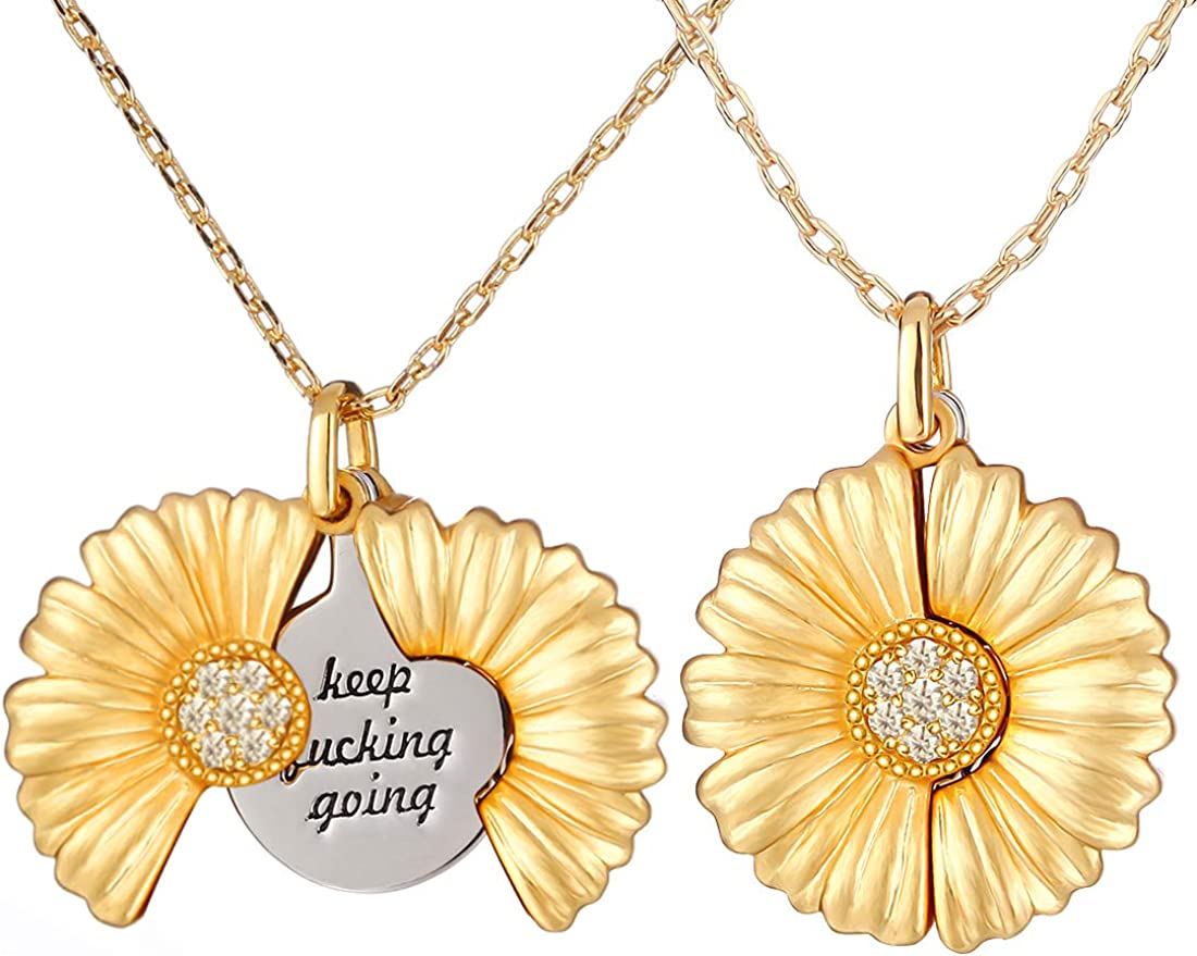 ISWAKI Sunflower Necklace You are my G Layered OFFer Ranking TOP19 sunshine Engraved