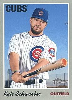 2019 Topps Heritage #117 Kyle Schwarber Chicago Cubs Baseball Card