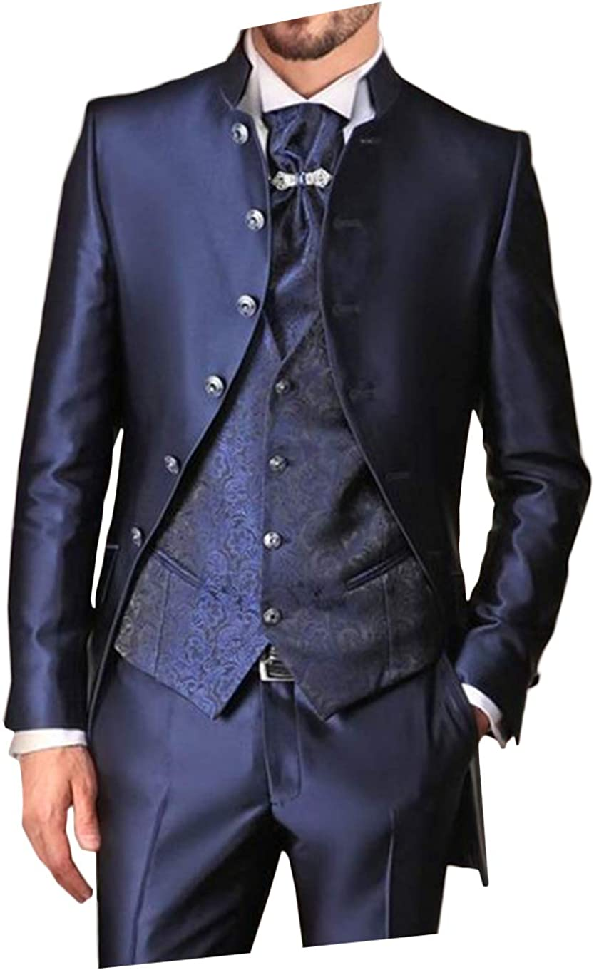 LYXP Men Stand Collar Suits Pants Wedding for Nippon regular agency Sli In a popularity with