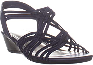 Impo Recent Strappy Wedge Sandals, Midnight Blue