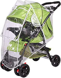 Stroller Weather Shield, Hamkaw Universal Baby Umbrella Stroller Rain Cover with Zipper - Water Resistant & Dustproof, See Through Snow Rain Proof Pram Jogging Cover Poncho Protection, L Size