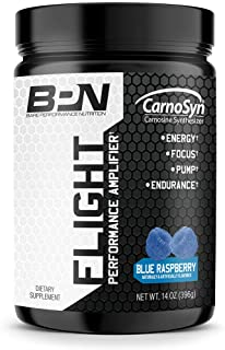Bare Performance Nutrition, Flight Pre Workout, Energy, Focus & Endurance, Formulated with Caffeine Anhydrous, DiCaffeine Malate, N-Acetyl Tyrosine (30 Servings, Blue Raspberry)