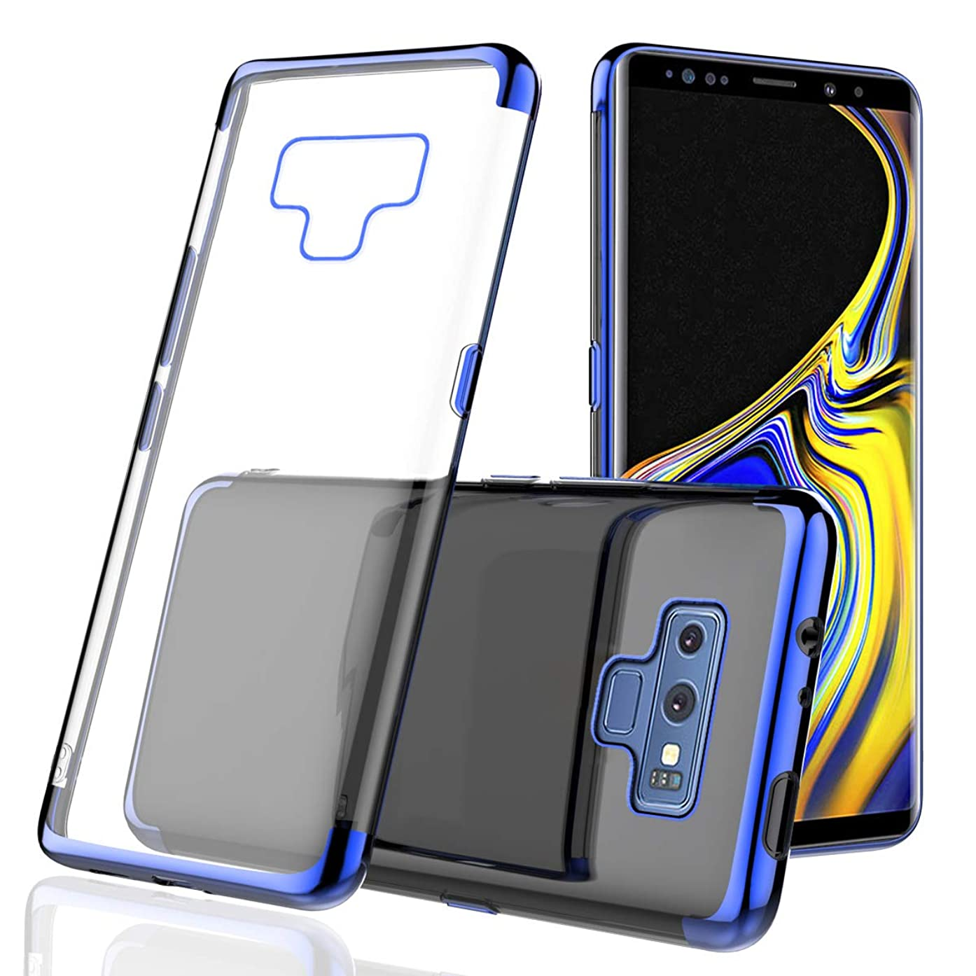 Happon Samsung Galaxy Note 9 Case, Thin Slim Skin Full Lens Protection Surface Soft Case Back Cover for Samsung Galaxy Note 9 - Blue