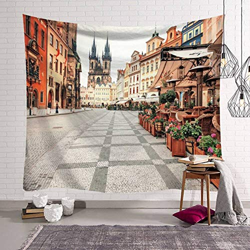 Wandteppich, European Street View schafft...