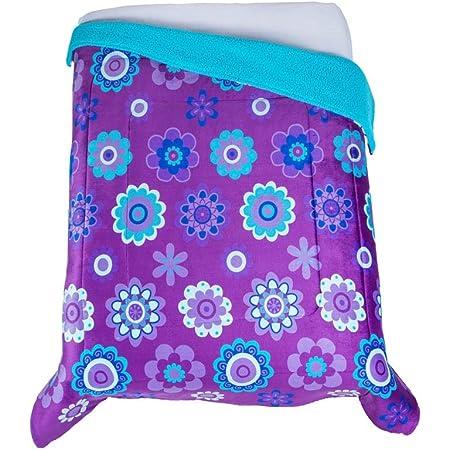 Colchas Concord Katya Cobertor Borrega Matrimonial/Individual, color Morado