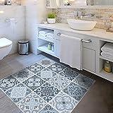 Alwayspon Vinyl Floor Wall Tiles Sticker, Waterproof Non-slip Splashback Tiles Decal for Kitchen