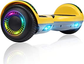 Felimoda Hoverboard, 6.5 Inch Two-Wheel Self Balancing Hoverboards - LED Light Flashing Wheel for Kids
