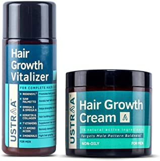 Ustraa Hair Growth Vitalizer, 100ml & Ustraa Hair Growth Cream, 100 g