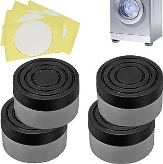 MUSEDAY 4Pcs Foot Pads Washing Machine Patin Antiderapant Pieds Machine a Laver Anti Vibration Tampon Pieds Stabilisateur ...