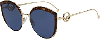 Fendi F IS FF 0290/S GOLD HAVANA/BLUE 58/21/140 women Sunglasses