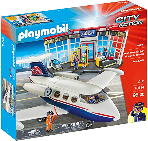 Playmobil 70114 Airport 96PC City Action Fast Delivery Vendedor del Reino Unido