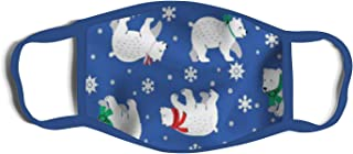 M4SK ARMY Holiday Themed 3-Ply Mask for Kids with Nose Clip, Polar Bears, One Size
