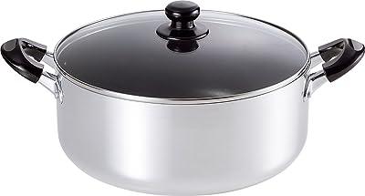 和平フレイズ 両手鍋 カレー シチュー おでん 料理鍋 ささら 28cm ふっ素樹脂加工 ガラス蓋付 大型鍋 IH対応 SM-8819