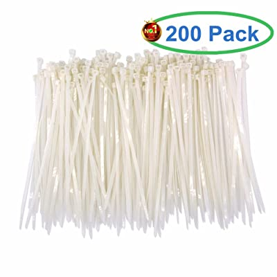 Upgrade Heavy Duty 200 Pcs White Clear Cable Ti...