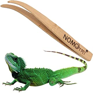zswell Bamboo Angled Reptile Feeding Long Tongs Eco-Friendly Feeder Grasping Tools for Tweezers Reptile Terrarium