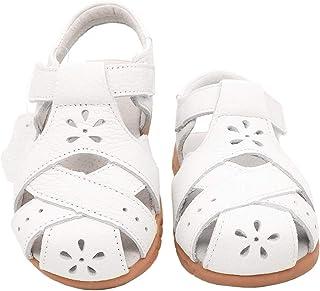 Gaatpot Unisex Niños Sandalias con Punta Cerrada Niña Niño Zapatos Sandalias de vestir en Cuero Zapatillas Verano 20-32