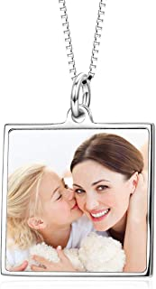 Full Color Photo Picture Personalized Necklace Custom Etched Dog Tag Image Pendant with Message Name