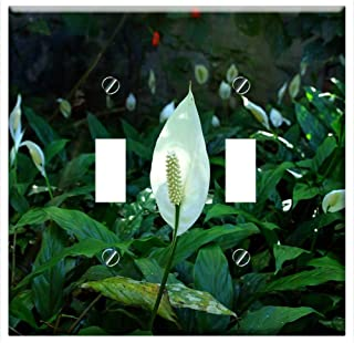 Switch Plate Double Toggle - Peace Lily Flower Flowers Garden Ornamental Nature