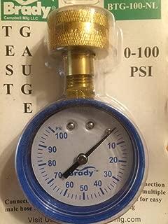 Brady Pressure Gauge 0-100 Psi 3/4