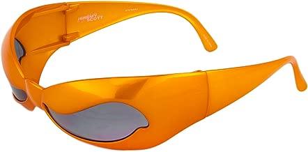 LINDA FARROW Jeremy Scott Superhero Orange Wave Mask NUWAVE Sunglasses