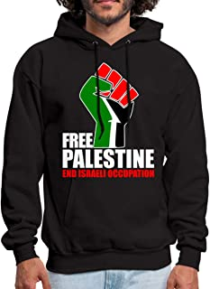 Spreadshirt Free Palestine End Israeli Occupation Men's Hoodie
