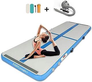 Inflatable Gymnastics Mat Airtrack Tumbling Mat with Pump for Gym/Home/Yoga/Training/Kids/Sport/Taekwondo/Game