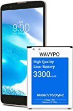 Wavypo LG Stylo 2 Battery, 3300mAh Replacement Battery Li-ion for BL-45B1F, LG Stylo 2 LS775 K540, Stylo 2 Plus MS550 K550 L81AL, V10 Spare Battery [24 Month Warranty]