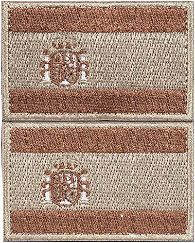 2 x Parche España Parches Velcro España Español Bandera Táctico bandera con velcro podría ser pegado a la ropa, chaleco, gorra, mochila
