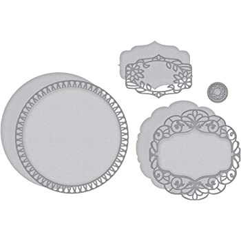 Spellbinders S5-390 Wafer Thin Shapeabilities Adoria Square Frame Etched Dies Shadowbox Metal