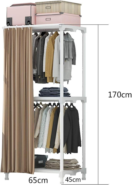JIAYING Commercial Grade Freestanding Rack,Simple Houseware Industrial Pipe Clothing Garment Rack ,2-Tier Entryway Metal Coat Rack (color   Coffee)