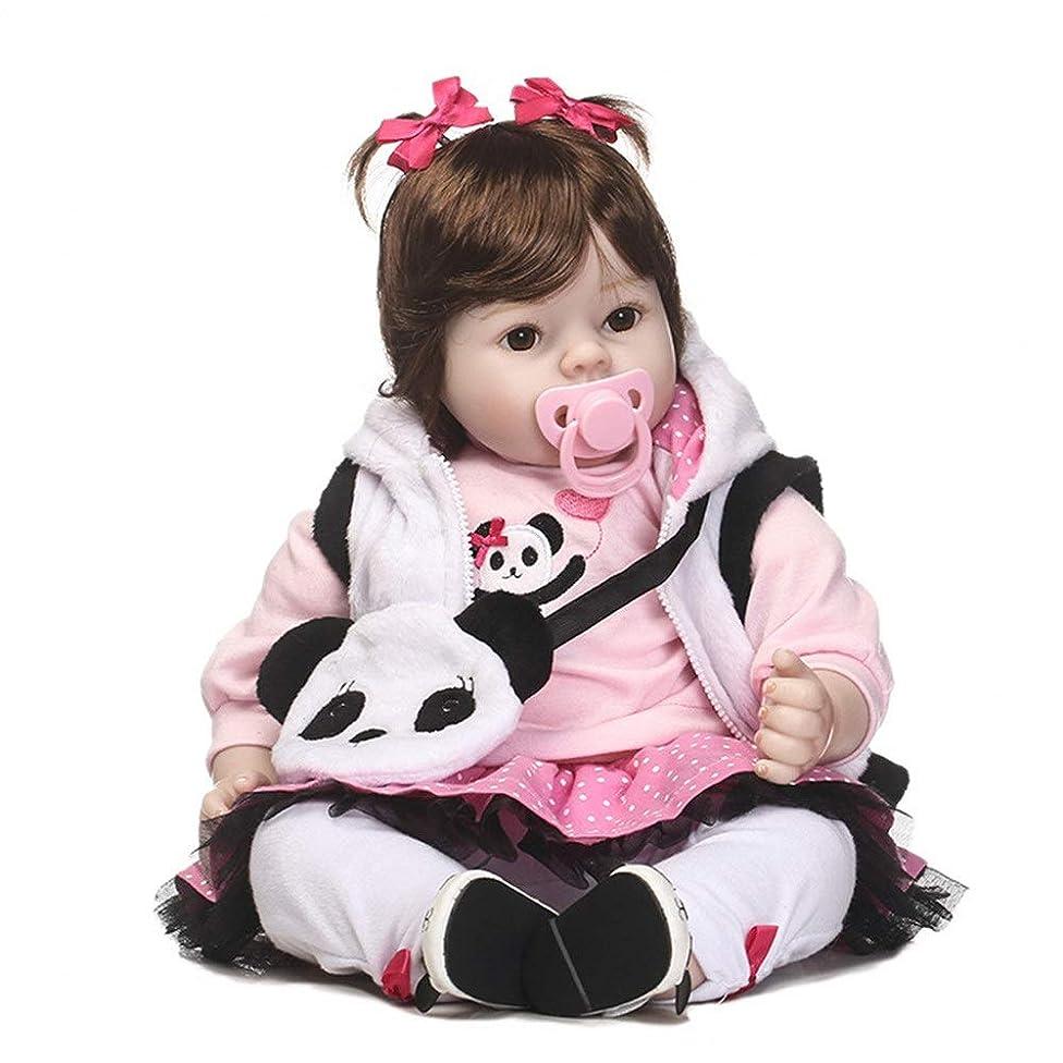 有力者光溶けたかわいい ベビー人形 赤ちゃん ガールマグネットおしゃぶりギフトスリーピング新生児リボーン赤ちゃん男の子と女の子のおもちゃ幼児 赤ちゃんお世話の練習対象 (Color : Photo Color, Size : 55cm)