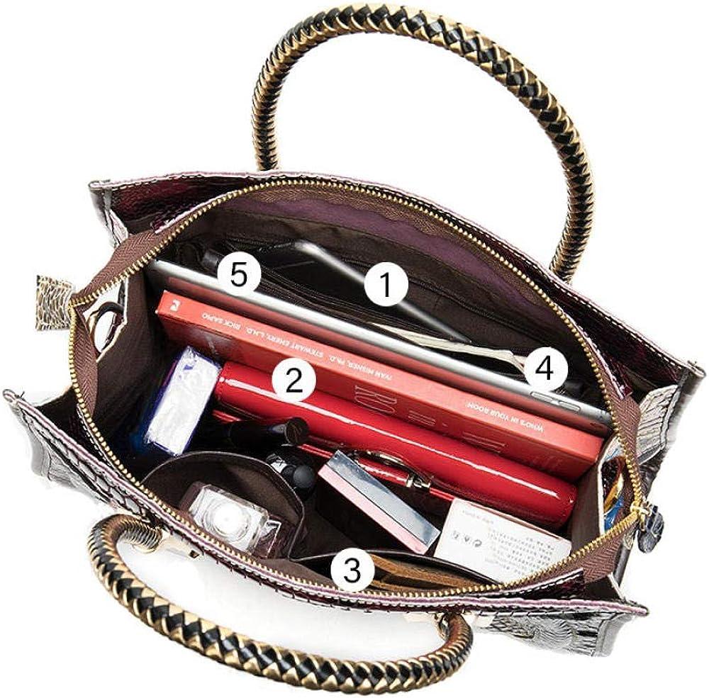 Sac à bandoulière en cuir véritable pour dames Sacs à main de couture de grande capacité Sacs à main de mode personnalisés Motif en Croix