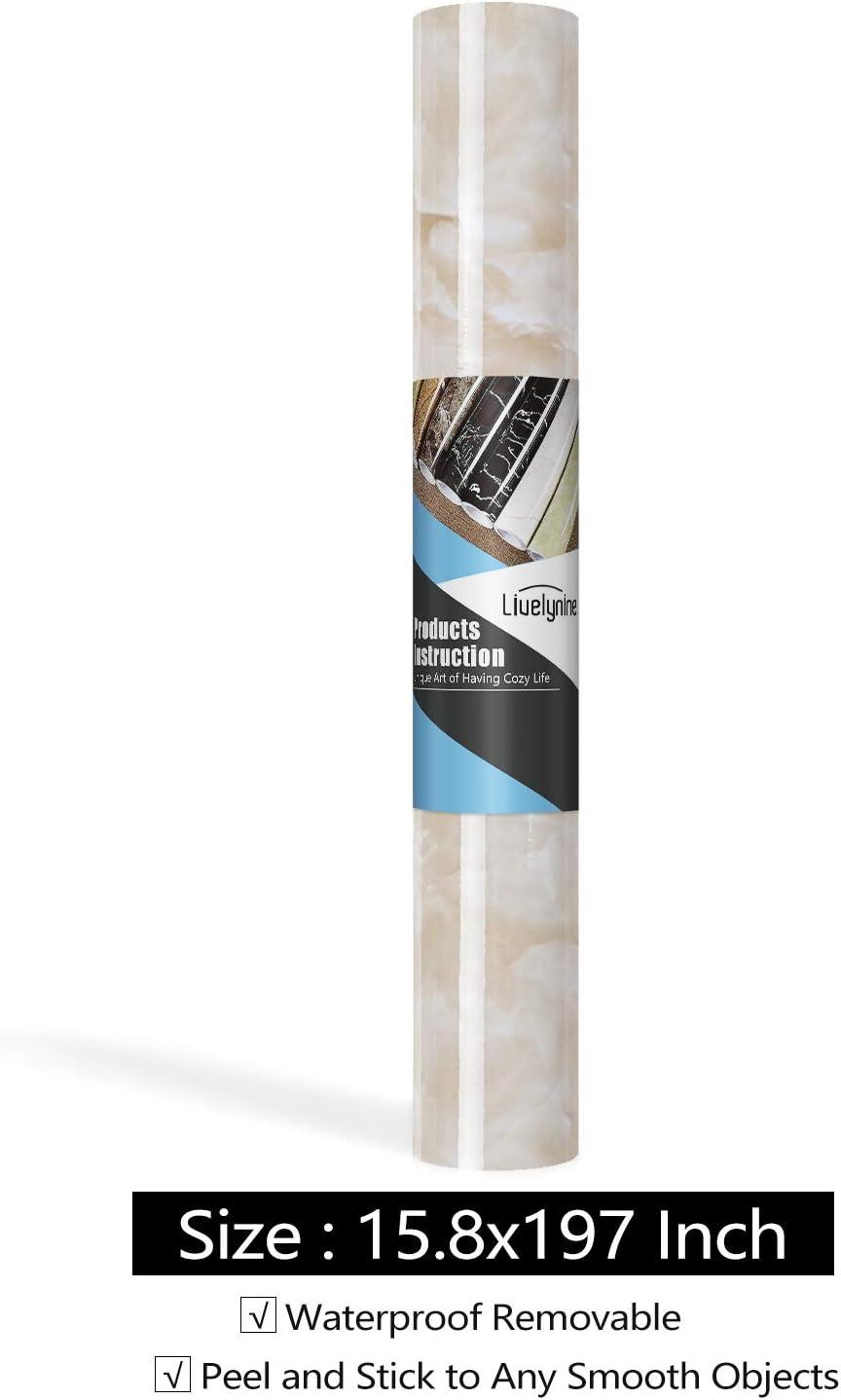 Livelynine Carta Adesiva Marmo per Tavolo Pellicola Adesiva per Mobili Cucina Marmo Carta Adesiva Paraschizzi Parete Cucina Piano Lavoro Cucina Laminato Carta da Parati Lavabile Autoadesiva 40CMx2M