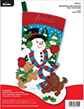 Bucilla 86900E Felt Applique Christmas Stocking Kit, 18