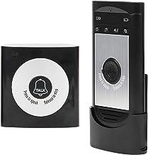Long‑Distance Wireless Doorbell, Wireless Door Chime, Wireless Voice Intercom Classroom for Home Full Color Office(Black S...